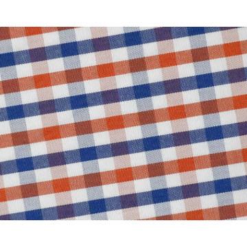 Красный/флот проверки чекер удобной хлопок полиэстер ткань рубашки