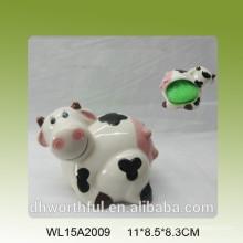 Jolie porte-éponge en céramique en forme de vache