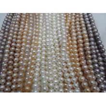 12-13mm Nearly Round / Potato Shape Real Pearl Strands (ES386)