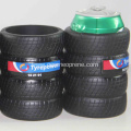 Tyre Shaped Durable PU Rubber Can Coolers