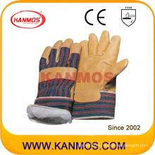 Рабочие перчатки зимней работы из желтой кожи свиньи (22302)