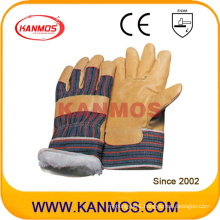 Yellow Pig Grain Leather Industrial Safety Winter Work Gloves (22302)
