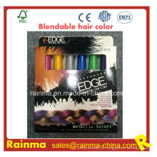 Grampos não tóxicos da cor do cabelo Giz Blendable do cabelo