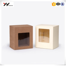Factory Price PVC Paper Packaging gift Box Factory Price Custom Logo Square Visible