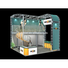 Factory sale customized service luxrious double deck show booth, exhibition stands display for Show