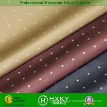 Círculo ponto imprimido com tecido de poliéster para jaqueta Men′s