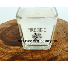 Weihnachtsgroßes Glas Soy Candle - Fireside