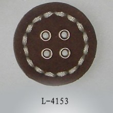 Flat Upholstery Leather Covered Buttons for Jackets