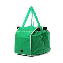 Bolsas de tela no tejidas de encargo del carrito de compras