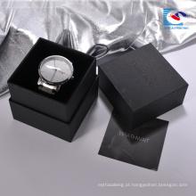 Caixa de presente feita sob encomenda do relógio do cartão da parte alta dos fornecedores chineses com coxim da esponja