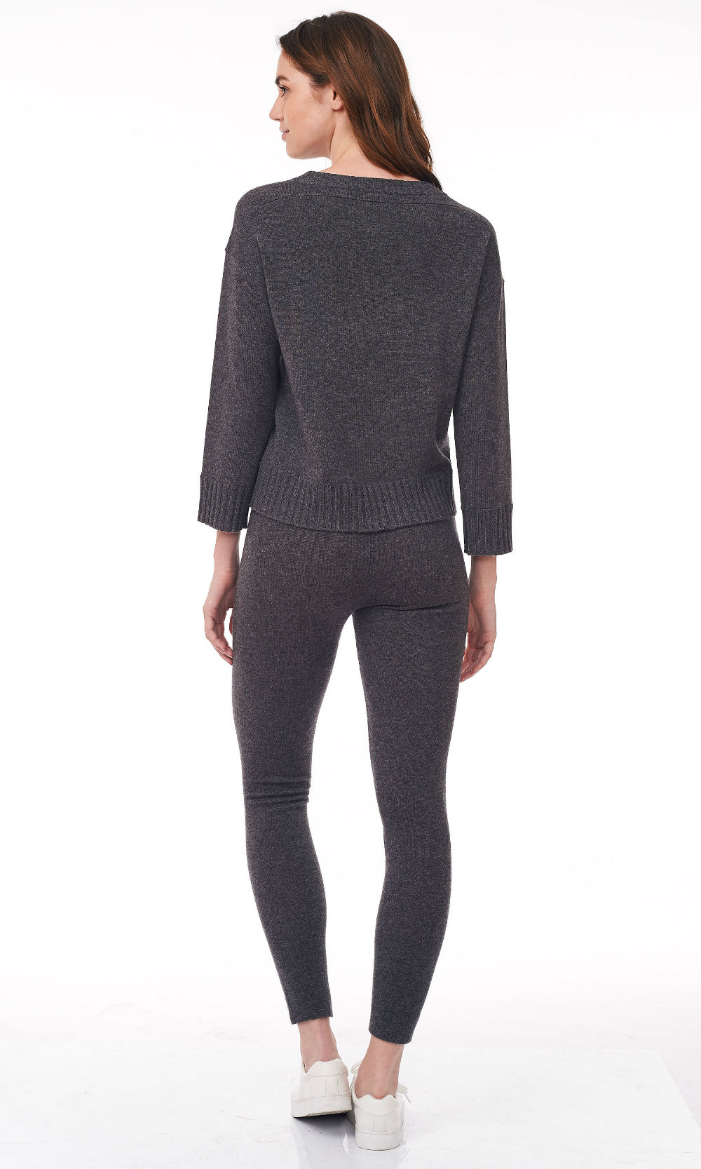 smoke cropped round neck sweater back