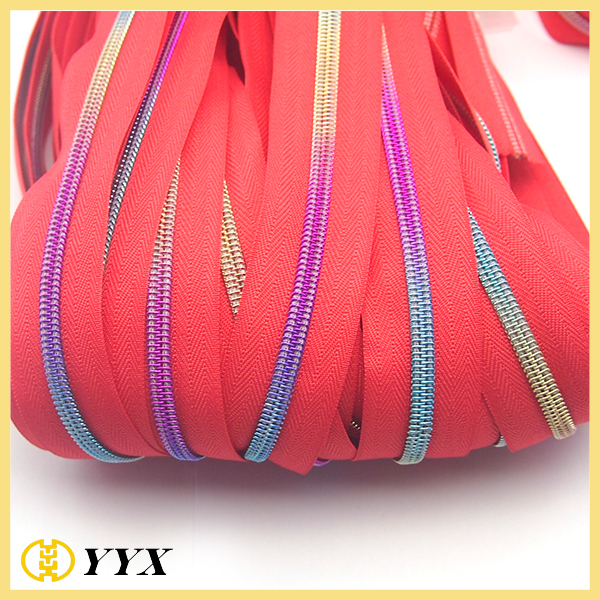nylon rainbow zipper