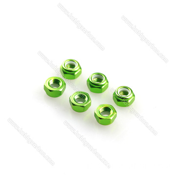 Aluminium Anodized Colourful Lock Nuts