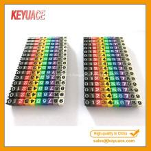 Bandes colorées de marqueur de câble numérique et de lettre de POM