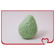 Wholsale 100% Natural Konjac Sponge Green Tea Beauty Face Cleaning Sponge