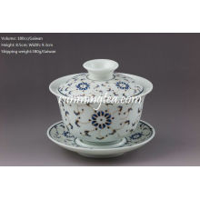 Golden Flower Porcelain Gaiwan-180cc / Gaiwan