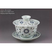 Golden Flower Porcelain Gaiwan-180cc/Gaiwan