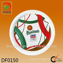 Factory direct wholesale round embossment ceramic cup mat
