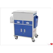 Chariot d'urgence médical en acier