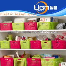 Пластиковая корзина для покупок пресс-формы производитель инъекционная корзина плесень в тайчжоу zhejiang china