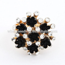 Hot-venta de los últimos anillos de diamantes CZ nuevo anillo negro