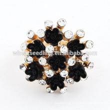 Hot-venda mais recente anel preto CZ novos anéis de diamante