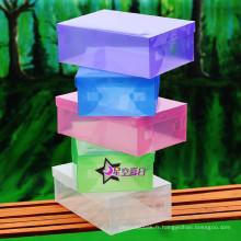 Boîte en plastique transparente / boîte à chaussures en plastique (mx-097)