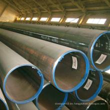 Tubo de acero soldado negro de buena calidad para estructura