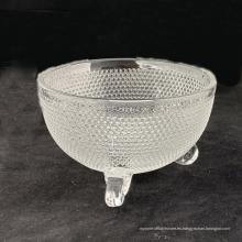 Cuenco de cristal transparente para helado