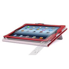 Miracase Red / Olive Green Smart Polyurethane Ipad Case With Pen Slot For Ipad 2