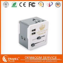 CE Universal travel adapter usb Gobal Conversion Plug and Socket USB wall outlet plug adaptor