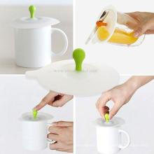 Couvercle de tasse de tasse de café de silicone anti-poussière de conception