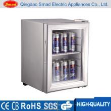 Transparente Tür tragbare Minibar Display Kühlschrank verwenden
