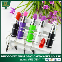 First YP158 Plastic Mini Promotional Lipstick Pen With Led Light