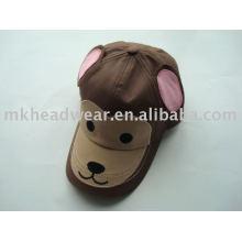 Gorra de béisbol animal lindo de la manera del algodón