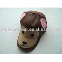 Chapeau de baseball animal mignon de coton