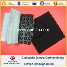 Géomembrane de HDPE Dimple pour la pente