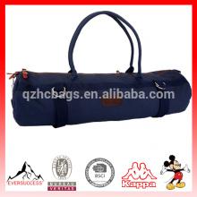 Portador de la bolsa de lona de yoga Color liso de lona con bolsillo y cremallera