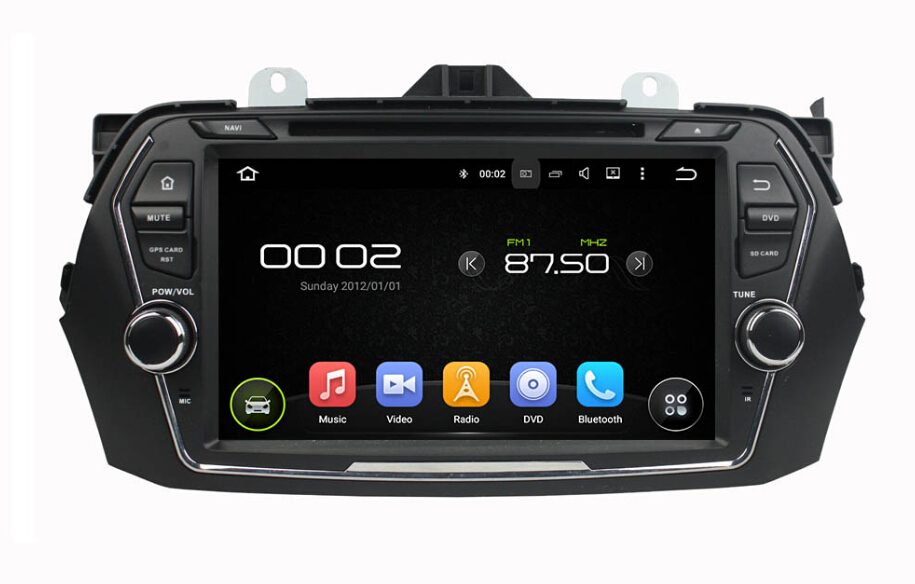 8 inch android car dvd player for Suzuki Ciaz 2015