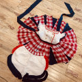 Neues Design-Kleidung-Sets Handbesticktes rotes Plaid