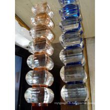 Décoration de salle de verre en verre, piliers stratifiés