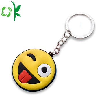 Mode Cartoon Emoji Smile Siliconen Sleutelhangers