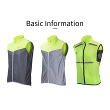 Rockbros Cycling Bike Bicycle Reflective Vest Running Safety Cycling Suit Sleeveless Breathable Vest Night Vest Coat