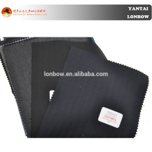 100% Merino Wool Fabric Worsted Herringbone trajes en stock de servicio
