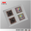 Hologram güvenlik geçersiz çıkartmaları ile bireysel QR Kod yazdırma