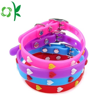 Hartvormige Silicone Dog Training Collar 3D Pet Ketting