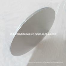 Disque rond en molybdène pur à 99,95%
