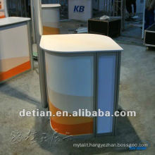 Led painting wooden bar reception desk portabl from china