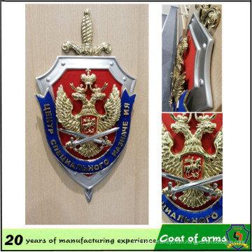 Customized Shield Shape Emblem with Sword