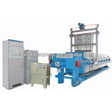 Máquina automática de la prensa del filtro de lavado del paño de Controll del PLC